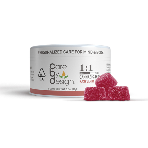 100mg 1:1 Raspberry Gummy