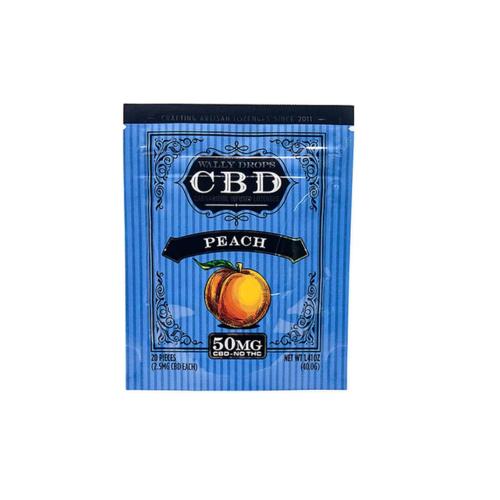 Wally Drops - 50mg Peach Hard Candy 20 Pack