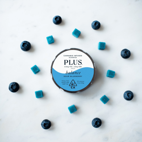 Balance Sour Blueberry Gummies