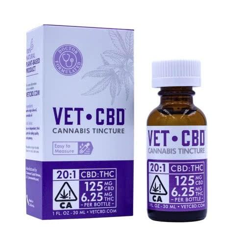Pet CBD Tincture 20:1 CBD/THC 125mg